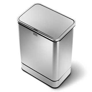 simplehuman Rectangular Sensor Trash Can, Fingerprint-Proof Brushed Stainless Steel, 40 Liters /10.5 Gallons