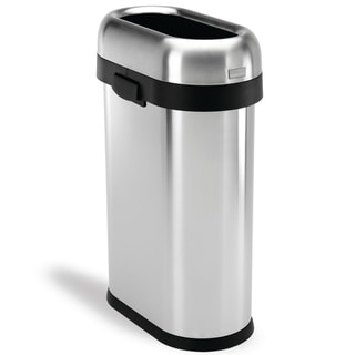 simplehuman Slim Open Brushed Stainless Steel Trash Can