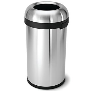 simplehuman Bullet Open Brushed Stainless Steel Trash Can (16 Gallons)