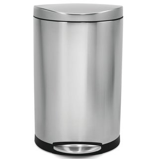 simplehuman Semi-Round Step Brushed Stainless Steel Trash Can (10.5 Gallons)
