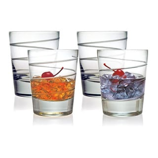 Spiral Collection Double Old Fashioned Glasses (Set of 4)