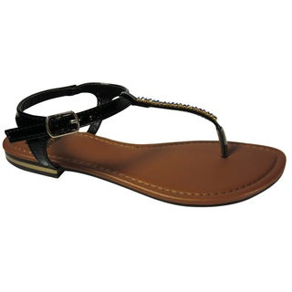 Betani by Beston Women's 'SOPHIA-6' T-strap Flat Sandals