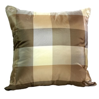 Sandstone Regal Plaid 16x16-inch Throw Pillow
