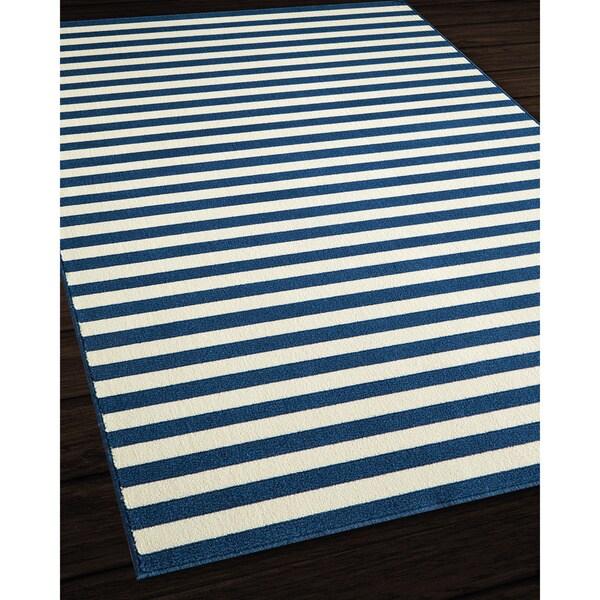 Indoor Outdoor Striped Rug 3 11 x 5 7