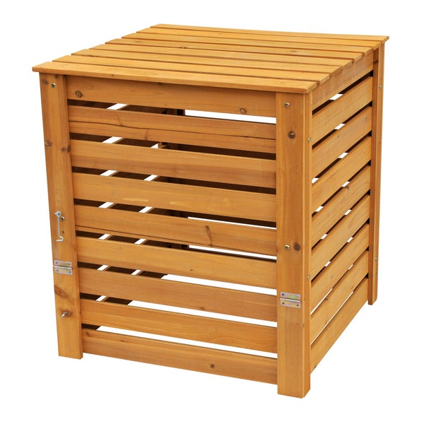 Green Cycler Gcgg02 Kitchen Scrap Pre Composter Garden: Solid Wood Slatted Compost Bin