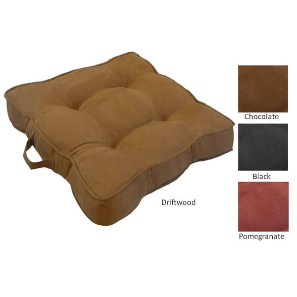 Chamois Oversized Microsuede Floor Cushion - 15395876 - Overstock.com Shopping - Great Deals ...