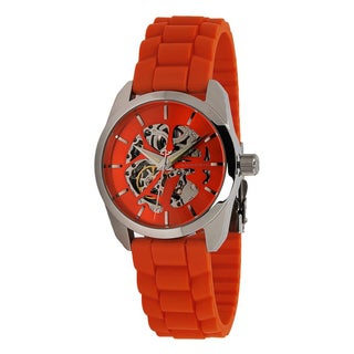 Android Women's ' Impetus' Orange Skeleton Automatic Watch