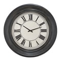 Bostonian 32-inch Rustic Black Wall Clock