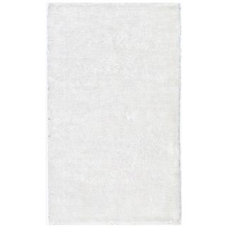 Hand-tufted Posh White Shag Rug (5' x 7')
