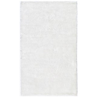 Hand-tufted Posh White Shag Rug (3' x 5')