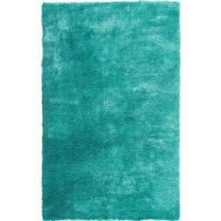 Hand-tufted Posh Teal Shag Rug (8' x 10')