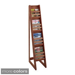 Safco Bamboo Magazine Floor Display 4 Pocket