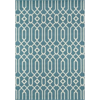 Indoor/Outdoor Blue Links Rug