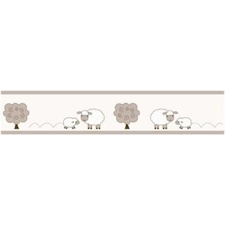 Sweet JoJo Designs Little Lamb Modern Wall Border