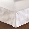 Diamond Quilted White Bedskirt