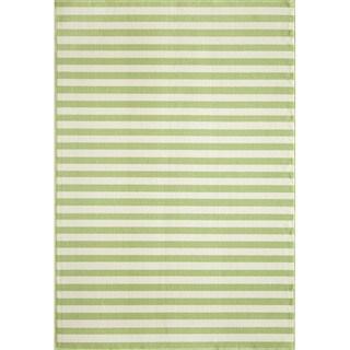 Indoor/Outdoor Green Striped Rug (1'8 x 3'7)
