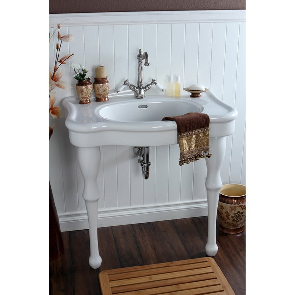 ... 32-inch for 8-inch Centers Wall Mount Pedestal Bathroom Sink Vanity