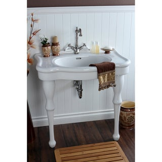 Vintage 32-inch for Single-hole Wall Mount Pedestal Bathroom Sink Vanity