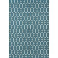 Trellis Light Blue Indoor/Outdoor Rug (7'10 x 10'10)