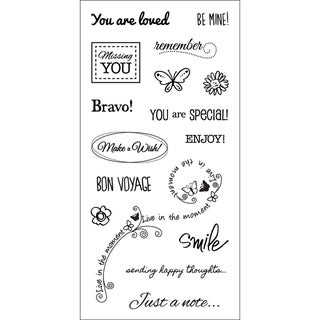 "Fiskars Clear 3""X6"" Sheet-Sincere Salutations"