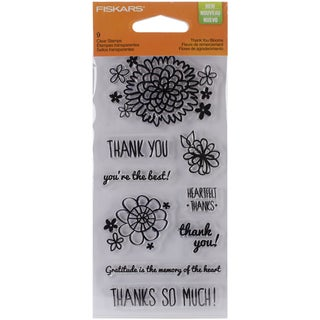 "Fiskars Clear 3""X6"" Sheet-Thank You Blooms"