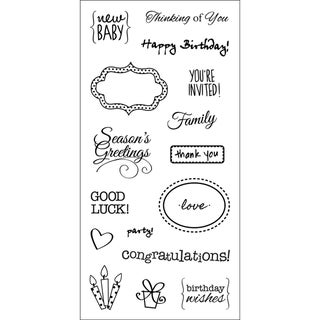 "Fiskars Clear 3""X6"" Sheet-Simple Expressions"