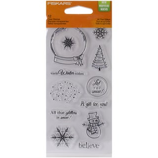 "Fiskars Clear 3""X6"" Sheet-All That Glitters"