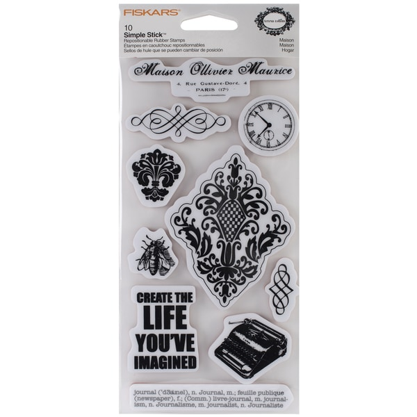 "Fiskars Teresa Collins 4""X8"" Sheet Cling Stamps -Maison"
