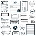 "Fiskars Teresa Collins 8""X8"" Sheet Cling Stamps-Travel Ledger"