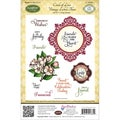 JustRite Stampers Cling Stamp Set-Circle Of Love Vintage Labels Three 11pc