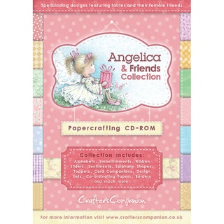 Angelica and Friends Papercrafting CD-ROM-