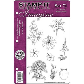"Stamp-It EZMount Cling Mini Binder Set 5.5""X8.5""-Set 71"