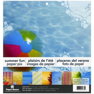 "Paper House Double-Sided Paper Pad 12""X12"" 24/Sheets-Summer Fun"