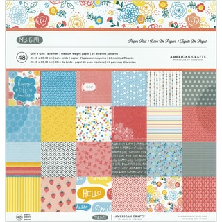 "My Girl Paper Pad 12""X12"" 48/Sheets-24 Double-Sided Designs/2 Each"
