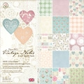 Papermania Vintage Notes Paper Pack 6X6in 32/Sheets