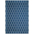 Indoor/Outdoor Navy Trellis Rug