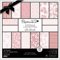 "Papermania Parkstone Pink Paper Pack 8""X8"" 32/Sheets-32 Designs, 160gsm/60# Cover Wt"
