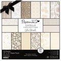 "Papermania Lincoln Linen Paper Pack 12""X12"" 32/Sheets-32 Designs, 160gsm/60# Cover Wt"
