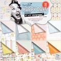 "Papermania Happy Days Designstax Paper Pad 6""X6"" 48/Sheets-16 Designs/3 Each, 200gsm/75# Cover Wt"
