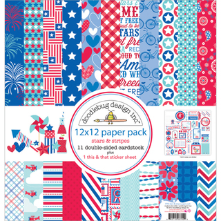 "Stars & Stripes Paper Pack 12""X12""-"