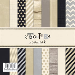"Etcetera Paper Pad 6""X6"" 36/Sheets-18 Designs/2 Each"