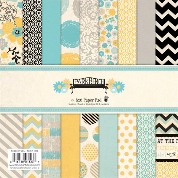 "Park Bench Paper Pad 6""X6"" 36/Sheets-18 Designs/2 Each"
