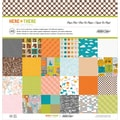 "Here & There Paper Pad 12""X12"" 48/Sheets-24 Medium Weight Designs/2 Each"