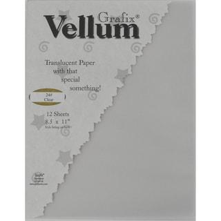 "Clear 24# Vellum 8.5""X11"" 12/Pkg-"