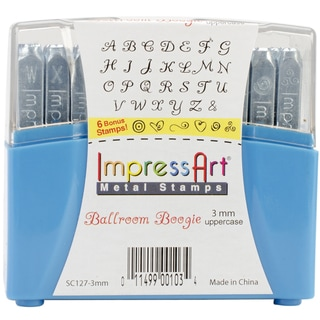 Uppercase Stamp Set 3mm-Ballroom Boogie