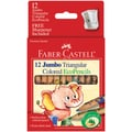 Short Jumbo Triangular Colored Ecopencil 12/Pkg-