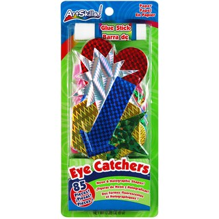Eye Catchers Neon & Holographic Shapes 85/Pkg-With Glue Stick