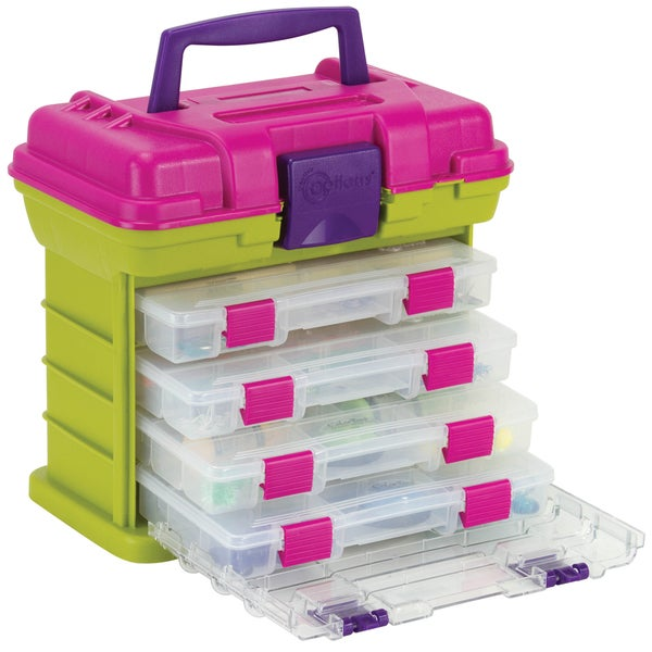"Creative Options Grab'n Go 4-By Rack System 11""X7.25""X10""-Green/Magenta"