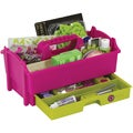 "Creative Options Crafter's Caddy W/Drawer 12.875""X8""X6.75""-Green/Magenta"