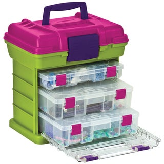"Creative Options Grab'n Go 3-By Rack System 13""X10""X14""-Green/Magenta"